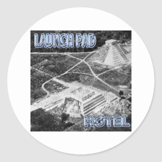 Launchpad and Hotel Round Sticker