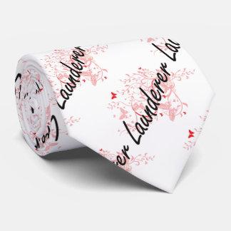 Launderer Artistic Job Design with Butterflies Tie