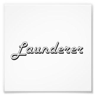 Launderer Classic Job Design Photo Print