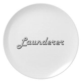 Launderer Classic Job Design Plates