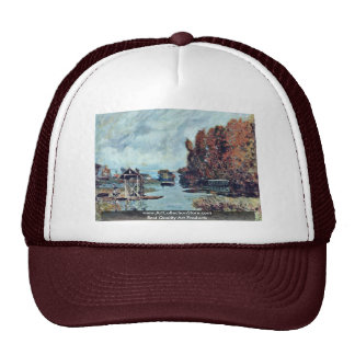 Laundresses Bougival By Sisley Alfred Trucker Hats