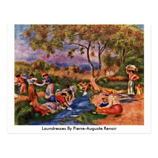Laundresses By Pierre-Auguste Renoir Postcard