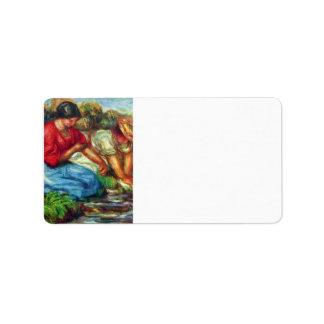 Laundresses by Pierre Renoir Label