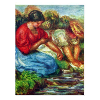 Laundresses by Pierre Renoir Postcard