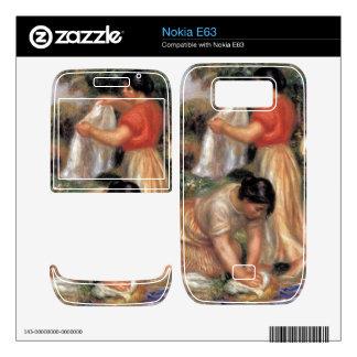 Laundresses by Pierre Renoir Nokia E63 Skins