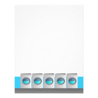 Laundromat Letterhead - color changeable