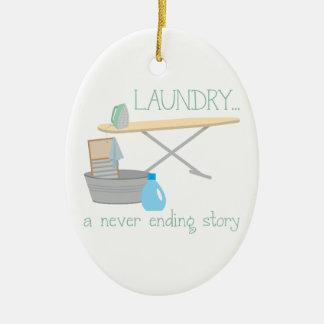 Laundry A Never Ending Story Ceramic Ornament