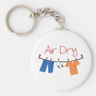 laundry_Air Dry Basic Round Button Keychain