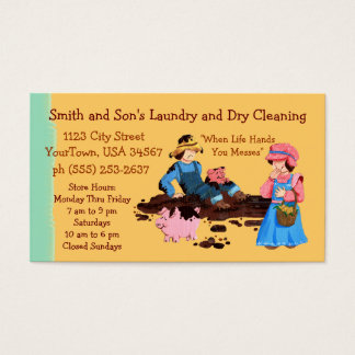 Laundry and Dry Cleaning Business Card