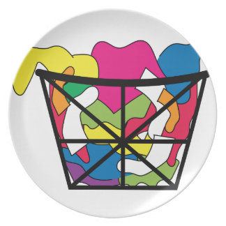 Laundry Basket Party Plate
