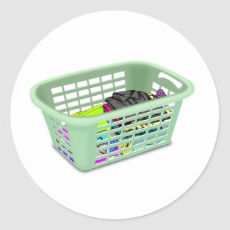 Laundry Basket Stickers