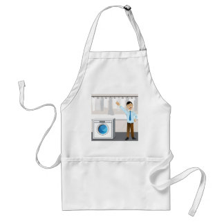 Laundry Businessman Cartoon Adult Apron
