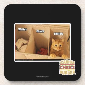 Laundry Cat Beverage Coaster