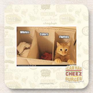 Laundry Cat Drink Coaster