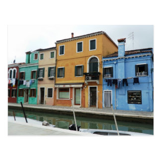 Laundry Day in Burano Postcard