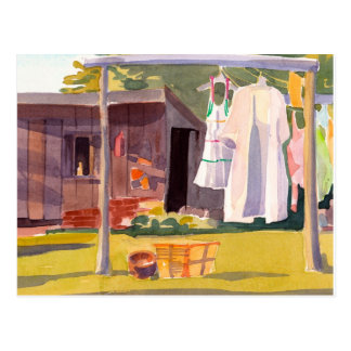 Laundry Day in Maine Postcard
