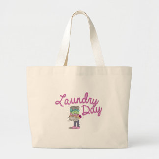 Laundry Day Large Tote Bag