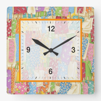Laundry Day Square Wall Clock