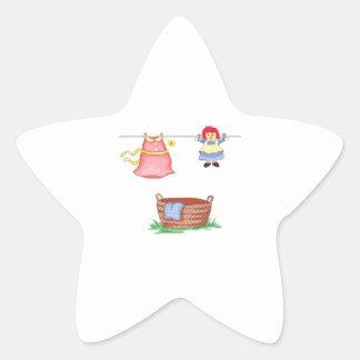 LAUNDRY DAY STAR STICKER