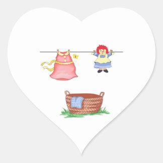 LAUNDRY DAY HEART STICKER