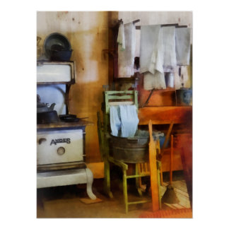 Laundry Drying in Kitchen Print