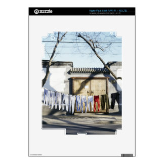 Laundry Drying on Clotheslines iPad 3 Decals