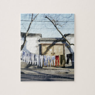 Laundry Drying on Clotheslines Jigsaw Puzzle