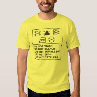 Laundry Guideline Shirt