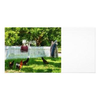 Laundry Hanging on Fence Photo Card