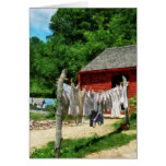 Laundry Hanging on Line Greeting Card