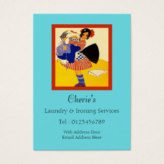 Ironing service business cards templates zazzle laundry amp ironing services business card pronofoot35fo Image collections