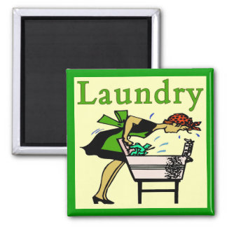 Laundry Lady 2 Inch Square Magnet