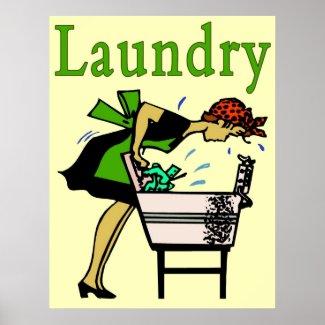 Laundry Lady print