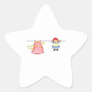 LAUNDRY LINE STAR STICKER