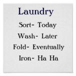 Laundry List Posters