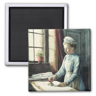 Laundry Maid, c.1880 2 Inch Square Magnet