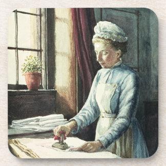 Laundry Maid, c.1880 Beverage Coaster
