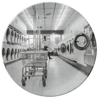 laundry porcelain plate