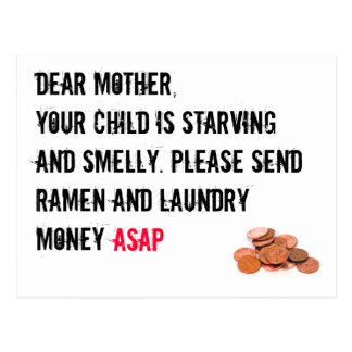 Laundry Money Card Postcard