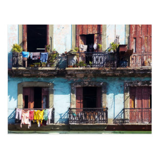 Laundry on balconies, Paseo del Prado, Cuba Postcard