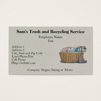 Laundry On Clothesline Business Card