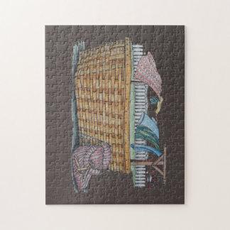 Laundry On Clothesline Jigsaw Puzzle