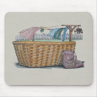 Laundry On Clothesline Mouse Pad