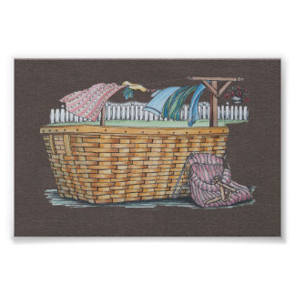 Laundry On Clothesline Photo Print