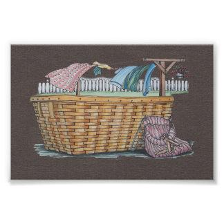 Laundry On Clothesline Photo Art