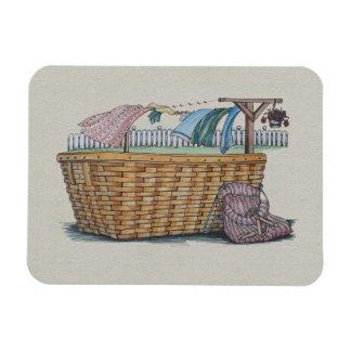 Laundry On Clothesline Rectangular Photo Magnet