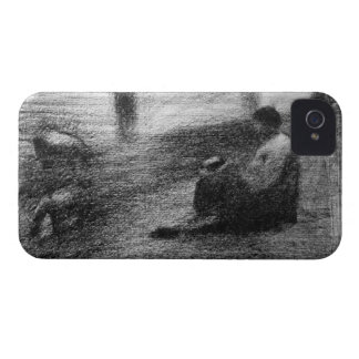Laundry on the line by Georges Seurat Case-Mate iPhone 4 Case