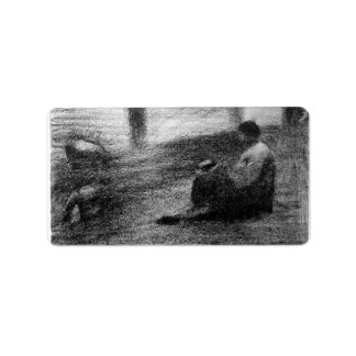 Laundry on the line by Georges Seurat Address Label