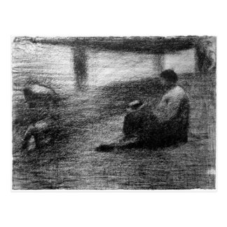Laundry on the line by Georges Seurat Postcard