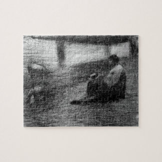 Laundry on the line by Georges Seurat Puzzles